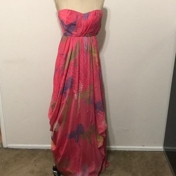 1eeb72aa0f Tibi Dresses   Silk Strapless Maxi Dress Salmon Floral   Poshmark